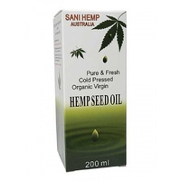 Sani Cold Pressed Virgin Hemp Seed Oil 200ml