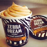 Zebra Salted Caramel Coconut Icecream 475g
