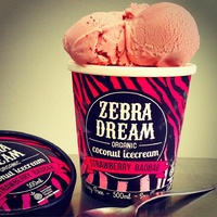 Zebra Strawberry Baobab Coconut Icecream 500g