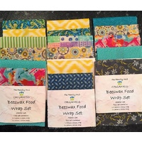 The Family Hub Beeswax Food Wraps (Organic Coated) 2pce Set